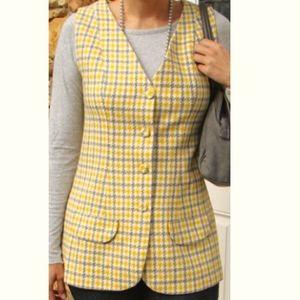 70's Plaid Wool Vest Vintage